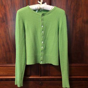 Vince Cashmere Cardigan -  Spring Green - Women's
